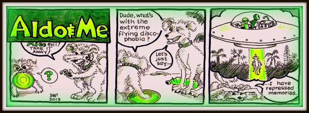 No cartoon doggies were mutilated in the making of this comic strip.